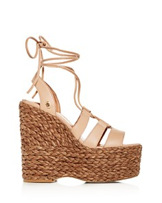 Kurt Geiger - Women's Nova Ankle-Tie Platform Wedge Sandals