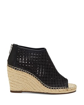 wholesale dealer 8094d 25142 ... VINCE CAMUTO - Women s Lereena Caged Leather Peep Toe Espadrille Wedge  Sandals