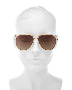 Jimmy Choo - Women's Triny Brow Bar Aviator Sunglasses, 59mm