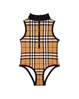 Burberry - Girls' Siera Vintage Check Swimsuit - Little Kid, Big Kid