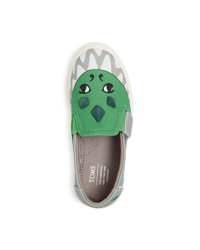 TOMS - Boys' Dino Glow-in-the-Dark Luca Low-Top Sneakers - Baby, Walker, Toddler
