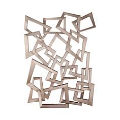 Bassett Mirror - Wall Hanging Silver Sculpture