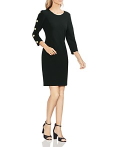 VINCE CAMUTO - Button-Sleeve Sheath Dress