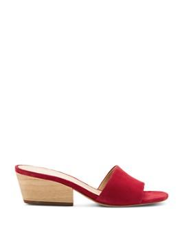 Botkier - Women's Carlie Suede Mid Heel Slide Sandals