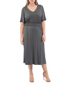 73242ce4f8ed B Collection by Bobeau Curvy - Simone Smocked Midi Dress ...