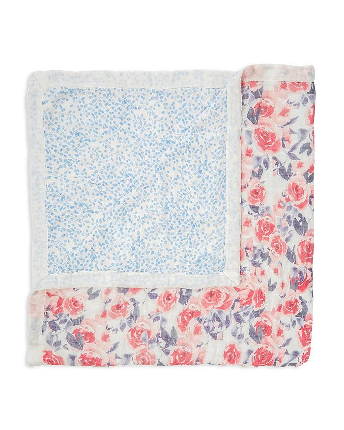 Aden and Anais - Girls' Watercolor Garden Reversible Print Blanket