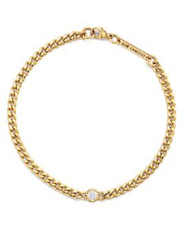 Zoë Chicco - 14K Yellow Gold Small Curb Diamond Chain Bracelet