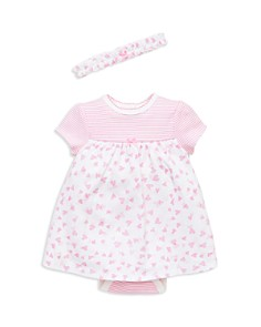 Little Me - Girls' Heart Bodysuit-Dress & Headband Set - Baby