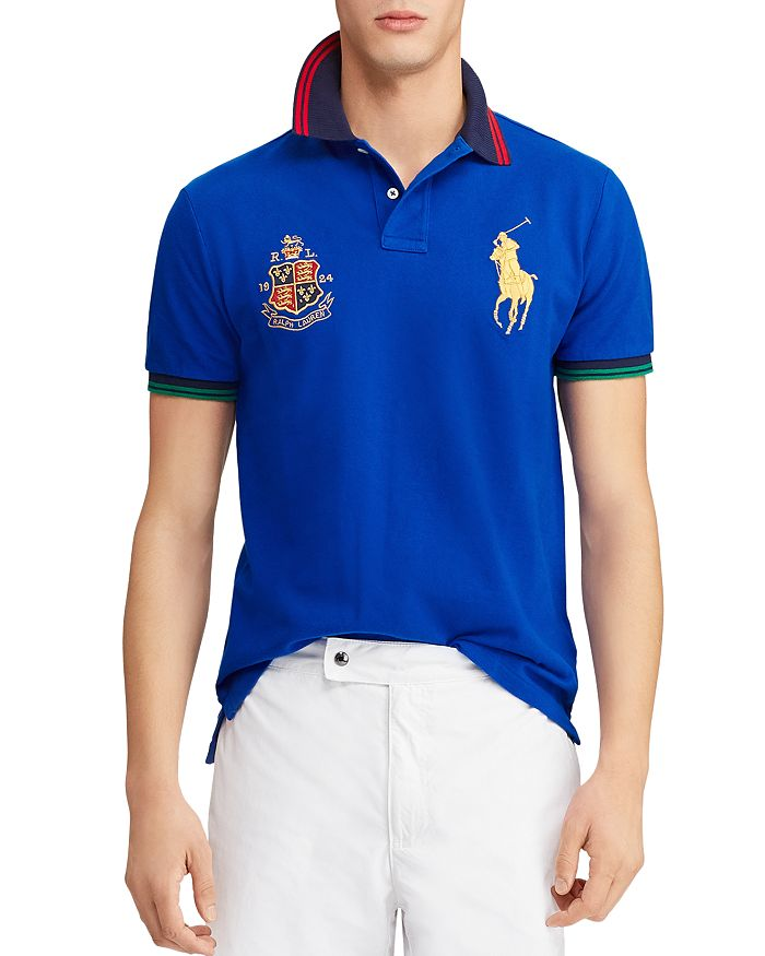 c8e8585dcb26 Polo Ralph Lauren - Mesh Custom Slim Fit Polo Shirt