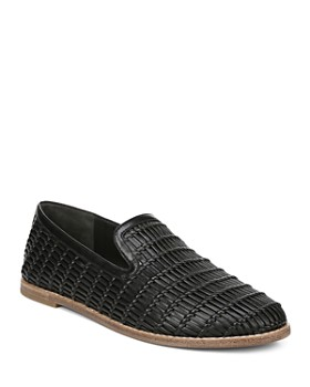 76c58293a15 Vince - Women s Jonah Woven Leather Loafers ...