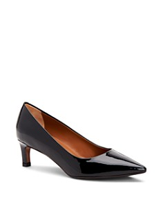 Aquatalia - Women's Marianna Weatherproof Patent Leather Kitten Heel Pumps