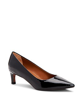 Aquatalia - Women's Marianna Weatherproof Patent Leather Kitten Heel Pumps