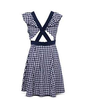 BCBGirls - Girls' Ruffle-Sleeve Gingham Dress - Little Kid