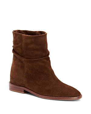 Aquatalia WOMEN'S CALEIGH WEATHERPROOF SUEDE SLOUCH BOOTIES