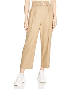 Sandro - Arthis Cropped Wide-Leg Pants