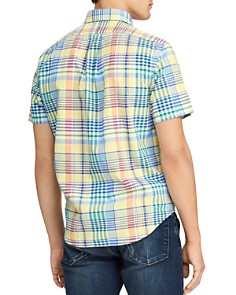 Polo Ralph Lauren - Short-Sleeve Plaid Classic Fit Oxford Shirt