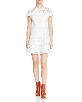 Sandro - Corentin Cotton Lace Mini Dress