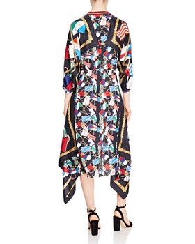 Sandro - Lauriane Flag-Print Midi Dress
