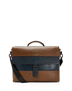 Ted Baker - Bocelli Striped Leather Satchel