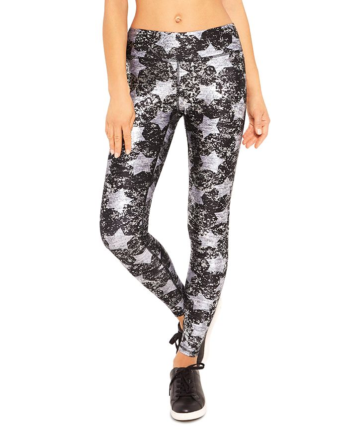 45717dc4b4d70 Terez Metallic Star Print Leggings | Bloomingdale's
