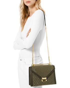 MICHAEL Michael Kors - Large Whitney Studded Leather Shoulder Bag