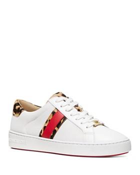 38b72afd82b0 MICHAEL Michael Kors - Women s Irving Leather   Calf Hair Low-Top Sneakers  ...