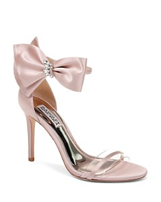 Badgley Mischka - Women's Fran Embellished Satin Bow High-Heel Sandals