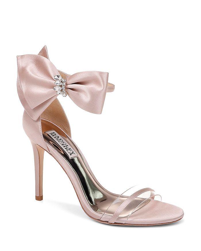Badgley Mischka - Women's Fran Embellished Satin Bow High-Heel Sandals