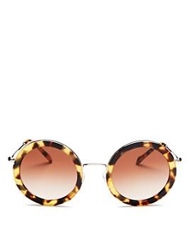 Miu Miu - Women's Round Sunglasses, 48mm