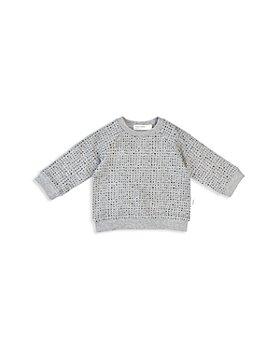 Miles Baby - Unisex Square Print Raglan Sweatshirt - Baby