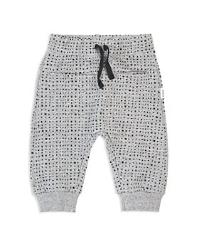Miles Baby - Unisex Square Print Jogger Pants - Baby