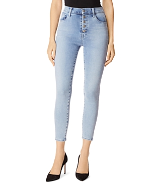 J Brand Lillie High Rise Ankle Skinny Jeans in Verity-Women