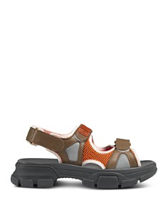 Gucci - Men's Leather & Mesh Sandals