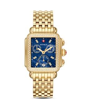 MICHELE - Deco Gold Diamond Watch Head, 33mm x 35mm