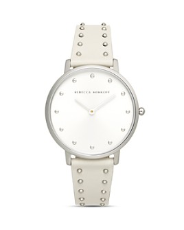 Rebecca Minkoff - Major Studded Leather Strap Watch, 35mm