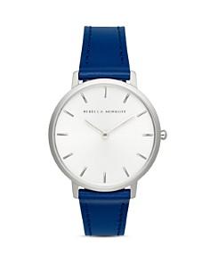 Rebecca Minkoff - Major Blue Leather Strap Watch, 35mm