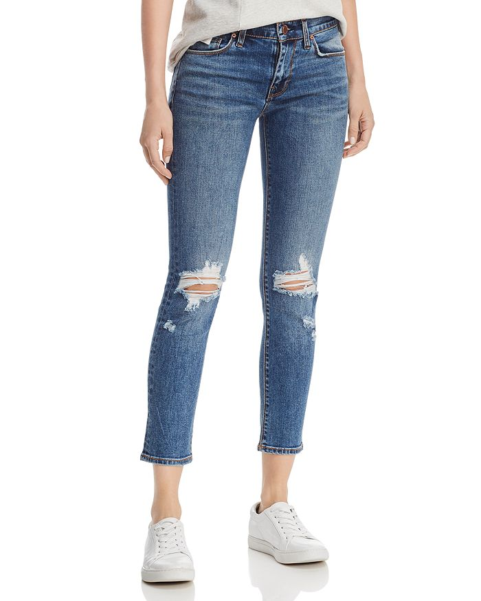 Hudson - Skinny Cropped Jeans in B-Good