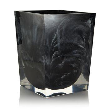 Kassatex - Ducale Black Waste Basket - 100% Exclusive