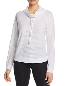 Marc New York - Mesh Funnel-Neck Sweatshirt