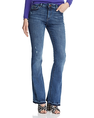 Dl Jeans DL1961 BRIDGET DISTRESSED RELEASED-HEM BOOT JEANS IN SUTHERLAND