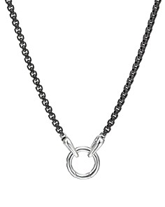 David Yurman - Sterling Silver & Darkened Stainless Steel Chain Necklace, 20""