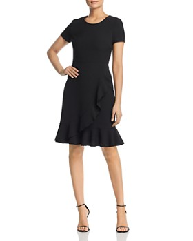 KARL LAGERFELD Paris - Short-Sleeve Ruffle-Hem Dress