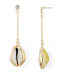 AQUA - Linear Shell & Crystal Drop Earrings - 100% Exclusive
