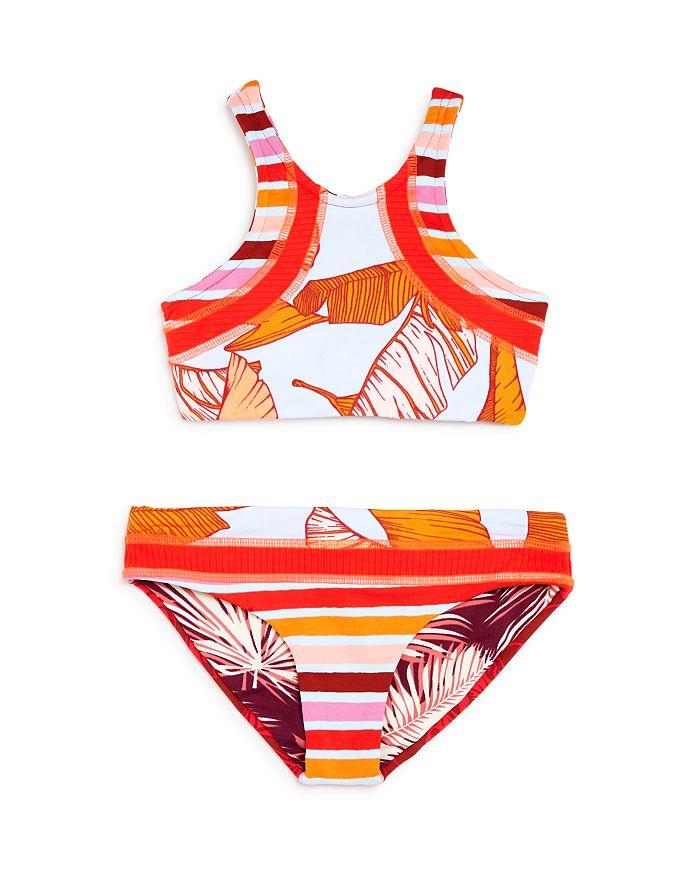 Maaji - Girls  Sunshine Garden Reversible High-Neck Two-Piece Swimsuit -  Little 5ea2c21b1640