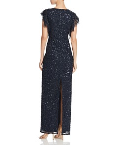 Adrianna Papell - Embellished Flutter Gown