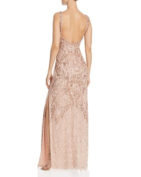 Aidan Mattox - Embellished Mesh Gown - 100% Exclusive