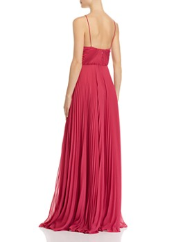 Jill Jill Stuart - Pleated Deep-V Gown
