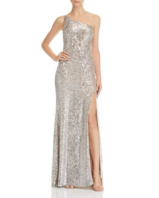 One Shoulder Sequin Gown by Avery G