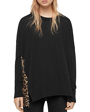 Allsaints Sweaters BENNIE LEPPO CONTRAST-BACK SWEATER