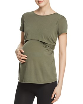 Ingrid & Isabel - Maternity Short Sleeve Tie Waist Top